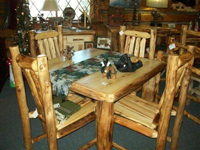 Williams Log Cabin Furniture, Log Cabin Dining Room Chairs