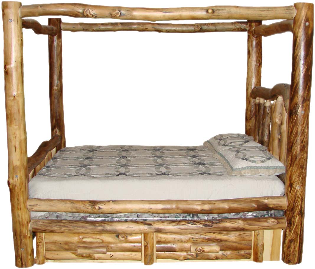 Colorado Aspen Log Beds, Headboards, And Frames