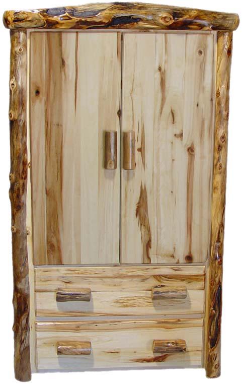 Williams Log Cabin Furniture Armoires And Log Wardrobes